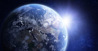 3D render of planet Earth