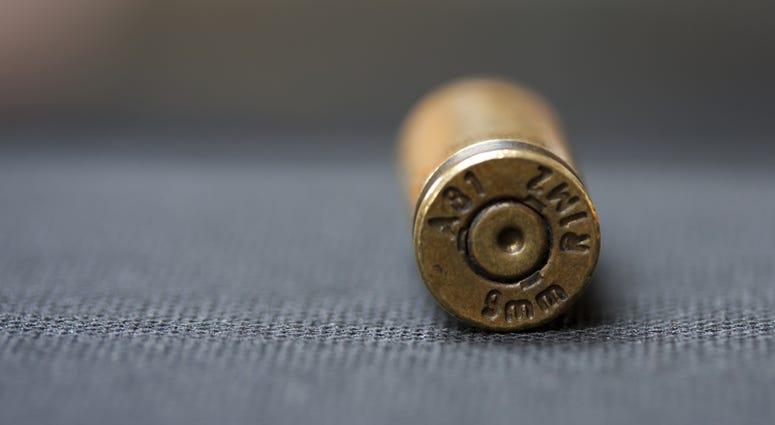 9mm bullet casing shooting