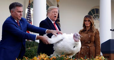 President Donald Trump pardons Butter