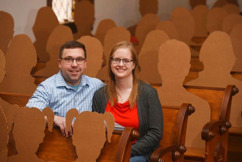 cardboard wedding guests