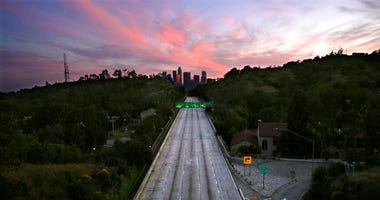 110 Arroyo Seco Parkway that leads to downtown Los Angeles