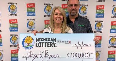 lottery winner Barb Brown