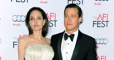 Angelina Jolie, left, and Brad Pitt