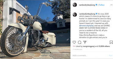 Ryan Hurst giving away motorcycle