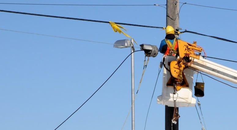 fixing power lines