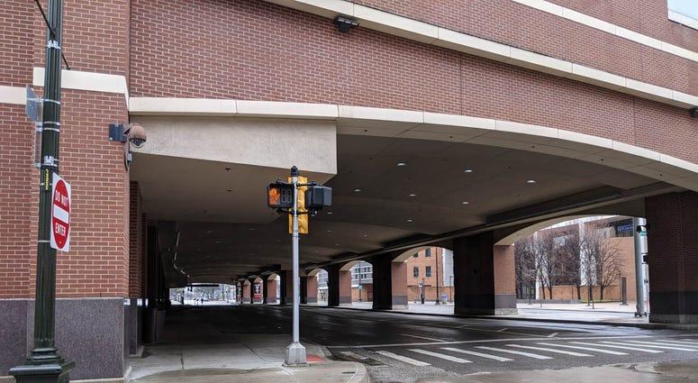 Empty Greektown Casino Entrance Detroit
