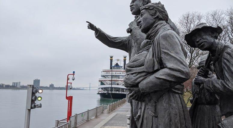 Detroit Underground Railroad Statue Gateway To Freedom