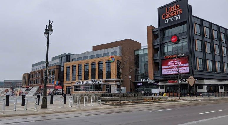 Little Caesars Arena Exterior Detroit