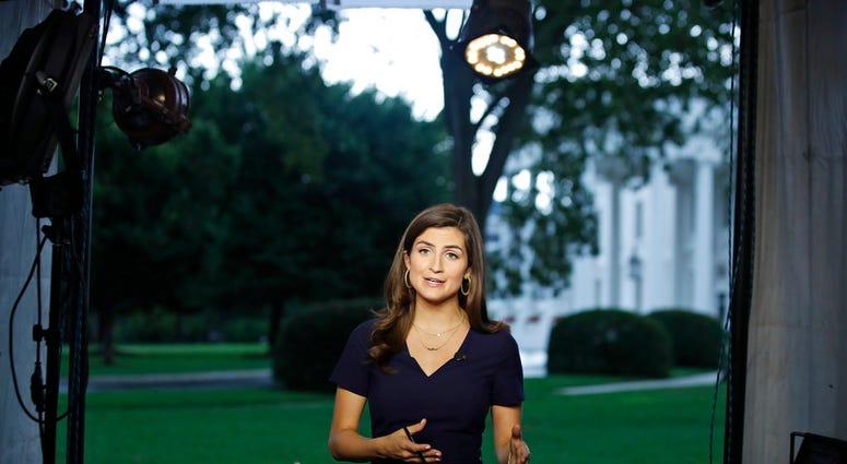 CNN White House correspondent Kaitlan Collins - AP