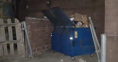 Little Caesar's dumpster