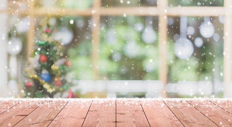 Snow and Christmas tree