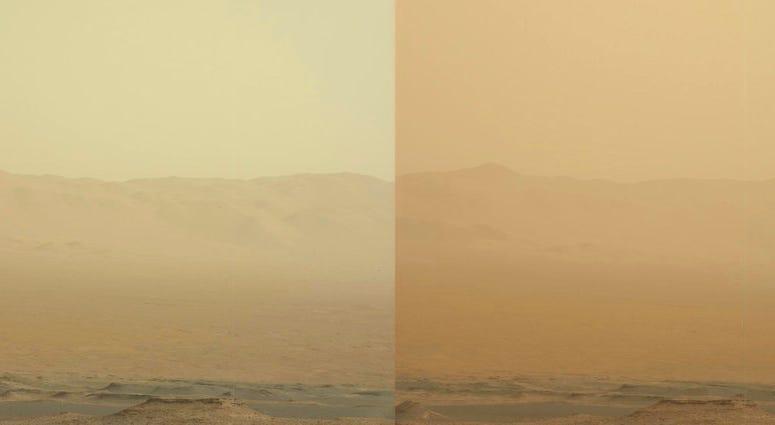 Mars dust storm - AP