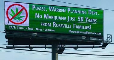 Warren Marijuana Billboard