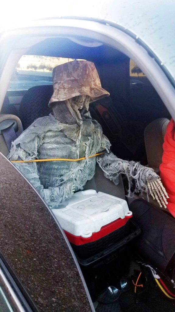 Skeleton in HOV lane