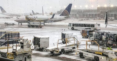 snow O'Hare Airport
