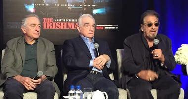 Robert DeNiro, left, Martin Scorsese and Al Pacino