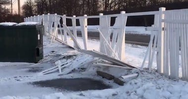 Trenton Snow Plow Damage
