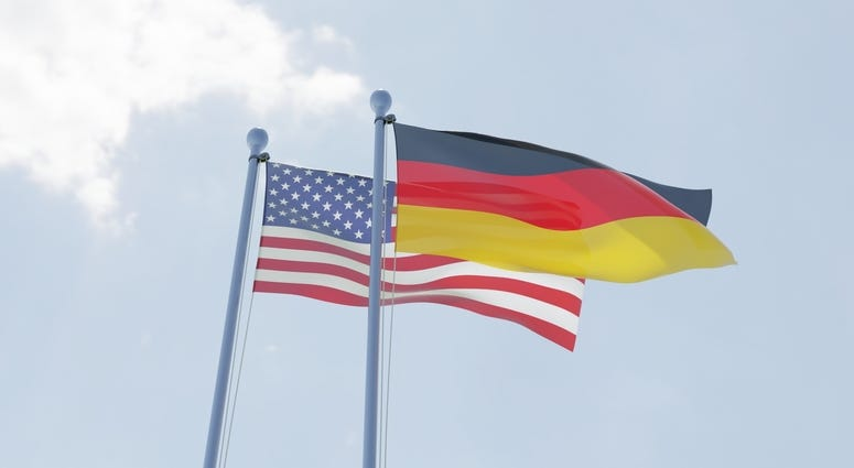 USA and Germany flags