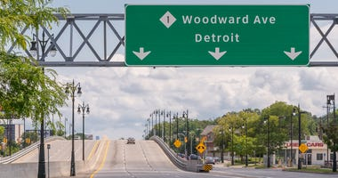Woodward Avenue at 8 Mile in Ferndale