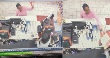 woman hit clerk with cans