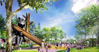 West Riverfront Park rending