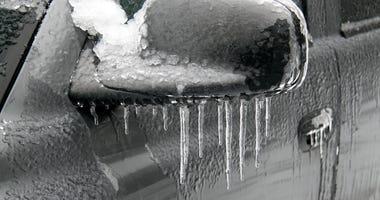 ice on car