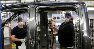 Ford Dearborn truck plant workers