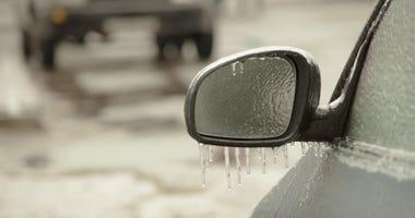 frozen ice car winter