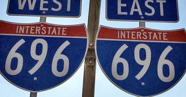 I-696 sign