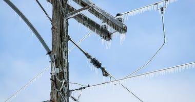 ice on powerlines