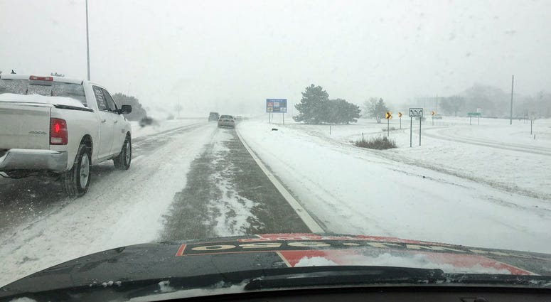 snow on Lodge Freeway