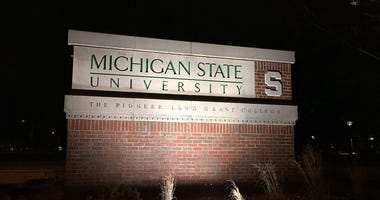 Michigan State University sign