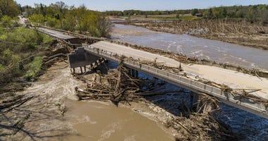 Repairs begin on Midland bridge