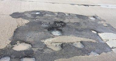 Potholes on Mound Road
