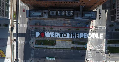 Power to the People mural in Detroit