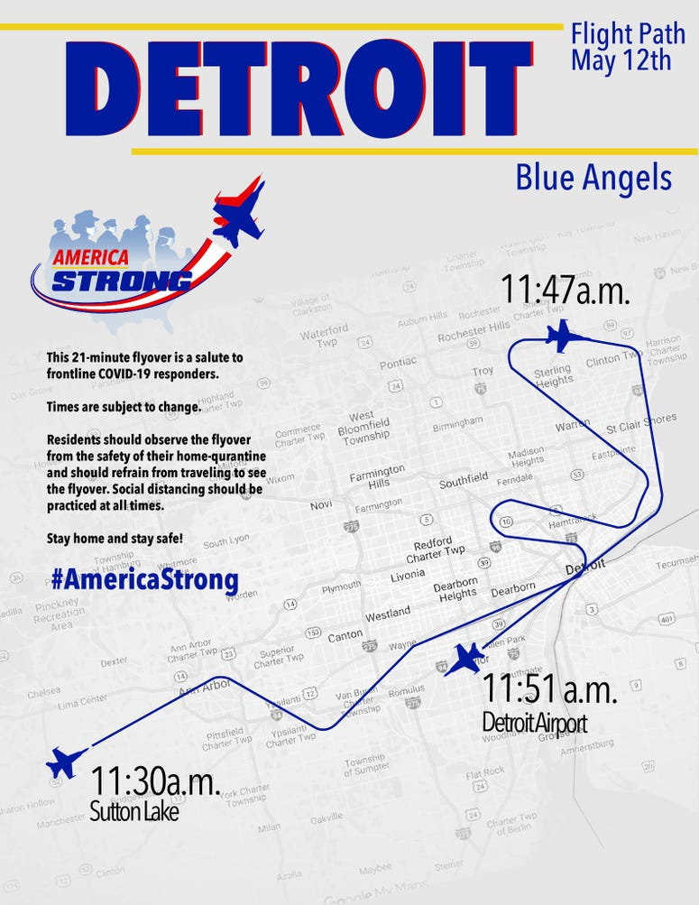 blue angels route.