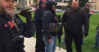 guns at protest