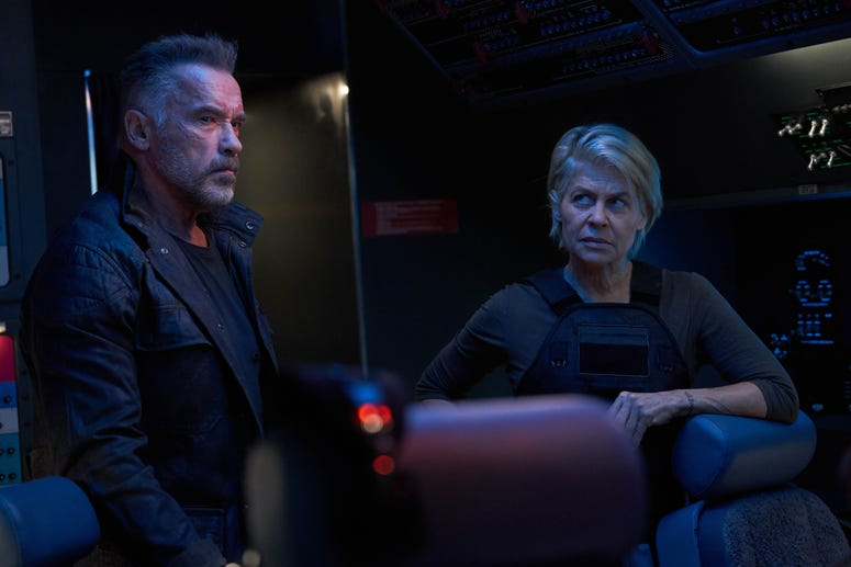 """Arnold Schwarzenegger and Linda Hamilton star in Skydance Productions and Paramount Pictures' """"TERMINATOR: DARK FATE."""""""