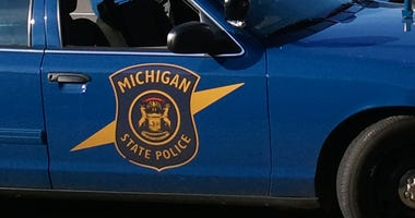 A Michigan State Police car