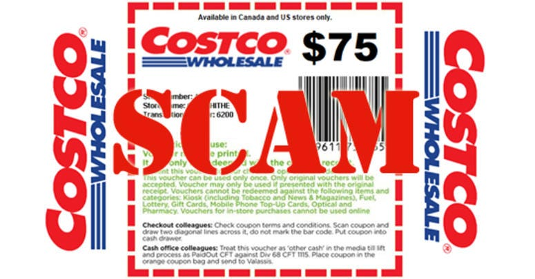 Costco coupon scam
