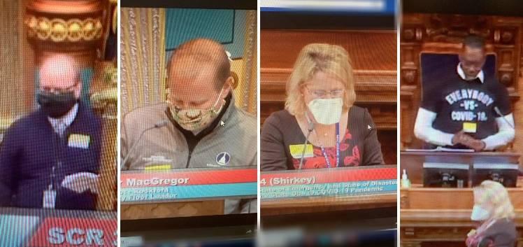 senators in masks