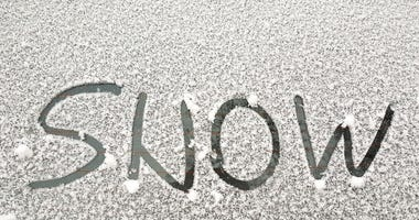 snow on windshield