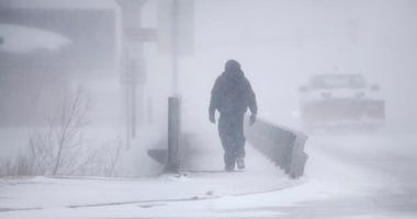 snow storm AP Photo