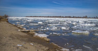 St. Clair River in winter