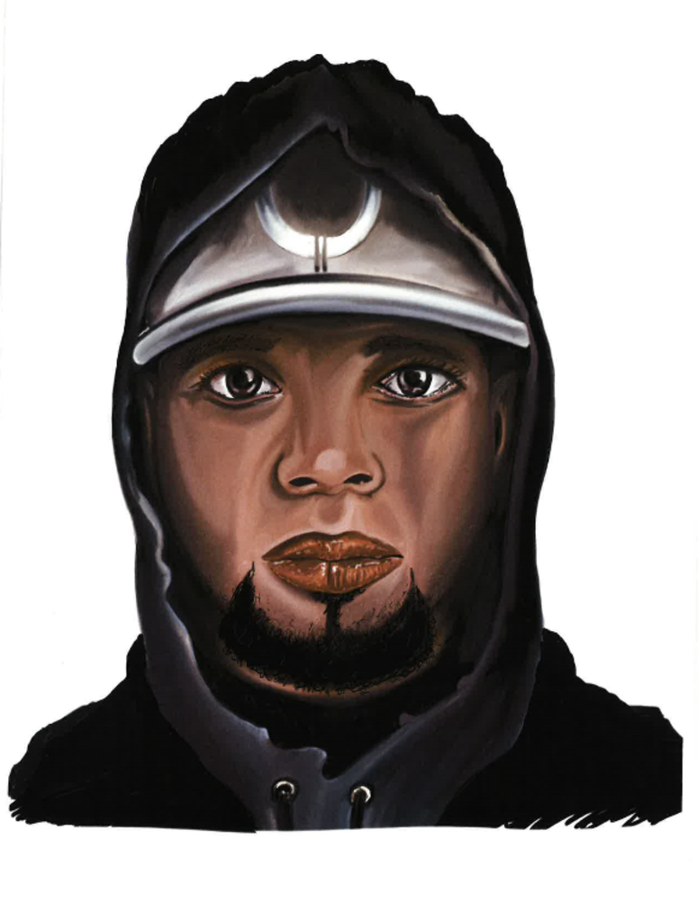 Sketch of wanted suspect