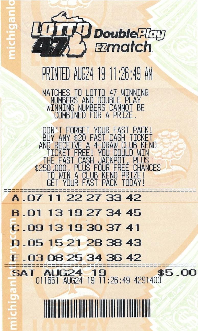 lotto 47 winning ticket