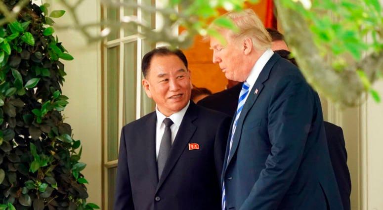 Trump with Kim Yong Chol