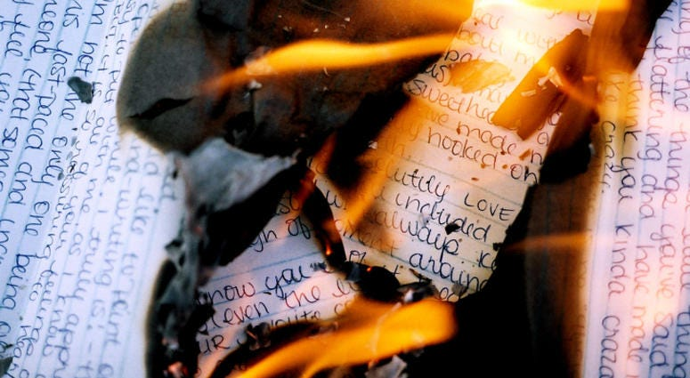burning love letters