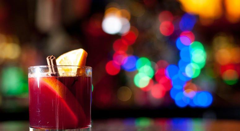 cocktail glass on bar