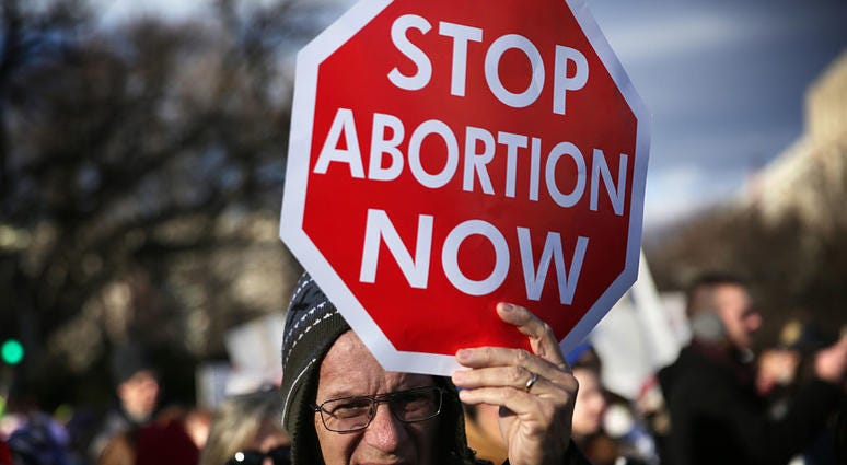 anti abortion sign